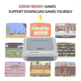 BOYHOM Super Console X Video Game Retro Controller Stick 128GB 41000 Games - TGZ-706W - White - 2