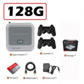 BOYHOM Super Console X Video Game Retro Controller Stick 128GB 41000 Games - TGZ-706W - White - 7