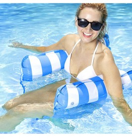 Doffy Pelampung Renang Floating Hammock Inflatable Water Bed - XY20 - Blue - 10