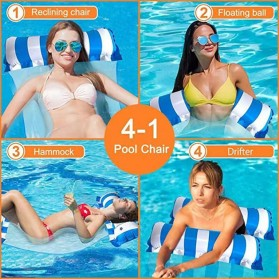 Doffy Pelampung Renang Floating Hammock Inflatable Water Bed - XY20 - Blue - 4