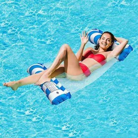Doffy Pelampung Renang Floating Hammock Inflatable Water Bed - XY20 - Blue - 5