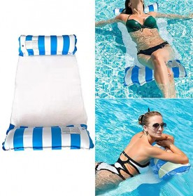 Doffy Pelampung Renang Floating Hammock Inflatable Water Bed - XY20 - Blue - 8