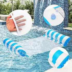 Doffy Pelampung Renang Floating Hammock Inflatable Water Bed - XY20 - Blue - 9