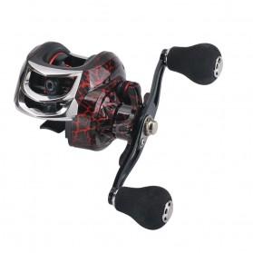 SNAKESKIN Reel Pancing Baitcasting Fishing Reel 18+1 Ball Bearing 7.2:1 Left Hand - EL1000 - Black