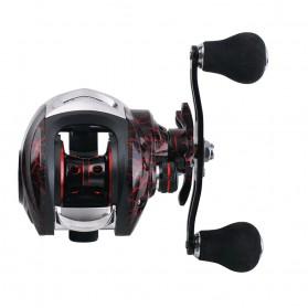 SNAKESKIN Reel Pancing Baitcasting Fishing Reel 18+1 Ball Bearing 7.2:1 Left Hand - EL1000 - Black - 10