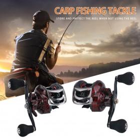 SNAKESKIN Reel Pancing Baitcasting Fishing Reel 18+1 Ball Bearing 7.2:1 Left Hand - EL1000 - Black - 2