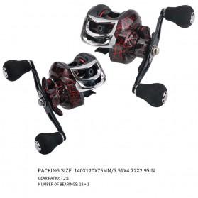SNAKESKIN Reel Pancing Baitcasting Fishing Reel 18+1 Ball Bearing 7.2:1 Left Hand - EL1000 - Black - 3