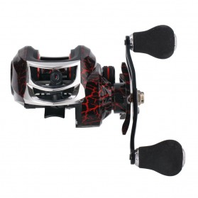 SNAKESKIN Reel Pancing Baitcasting Fishing Reel 18+1 Ball Bearing 7.2:1 Left Hand - EL1000 - Black - 7