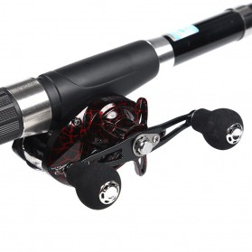 SNAKESKIN Reel Pancing Baitcasting Fishing Reel 18+1 Ball Bearing 7.2:1 Left Hand - EL1000 - Black - 9