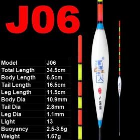 JIGEECARP Pelampung Umpan Pancing Fishing Floats Lure Bait - J06 - White