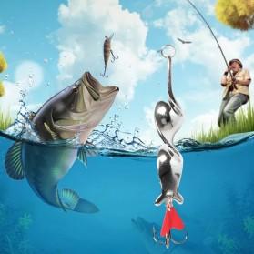 JYJ Umpan Pancing Ikan Spinning Spoon Fishing Lure 6CM 10G - YB20 - Silver
