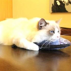 SEASENXI Ikan Mainan Kucing Cat Favor Fish Toys Chewing Simulation Catnip 30cm - SX001 - Dark Blue - 3