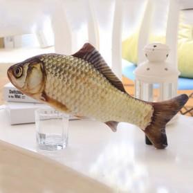 SEASENXI Ikan Mainan Kucing Cat Favor Fish Toys Chewing Simulation Catnip 30cm - SX001 - Dark Blue - 4