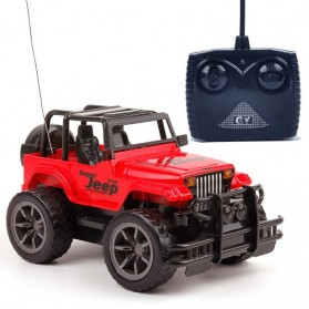 YOQIDOLL Mainan Remote Control Off Road Buggy RC 1:16 2.4GHz Model Jeep - 9866 - Red