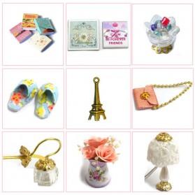 CUTEBEE Miniatur Rumah Boneka DIY Doll House Wooden Furniture - H015 - Pink - 3