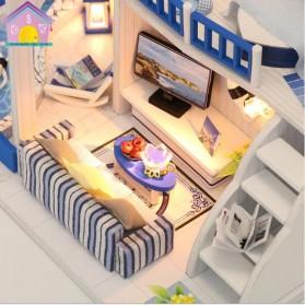 HONGDA Miniatur Rumah Boneka DIY Doll House Wooden Furniture - M040 - Blue - 4