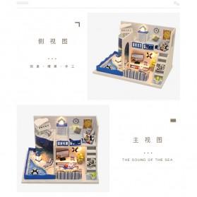 HONGDA Miniatur Rumah Boneka DIY Doll House Wooden Furniture - M040 - Blue - 8