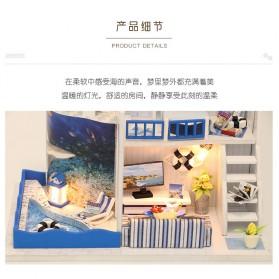 HONGDA Miniatur Rumah Boneka DIY Doll House Wooden Furniture - M040 - Blue - 9