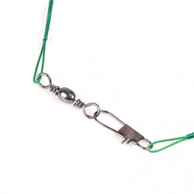 DAIWA Steel Wire Lead Kawat Baja Pancing Anti Bite Steel Fishing Line with Swivel 20cm 20PCS - AP0011 - Black - 3