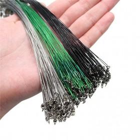DAIWA Steel Wire Lead Kawat Baja Pancing Anti Bite Steel Fishing Line with Swivel 20cm 20PCS - AP0011 - Black - 4