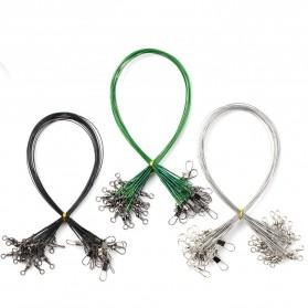 DAIWA Steel Wire Lead Kawat Baja Pancing Anti Bite Steel Fishing Line with Swivel 20cm 20PCS - AP0011 - Black - 5