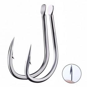 HENGJIA Kail Pancing Fishing Hook Nomor 10 50PCS - MS278 - Silver
