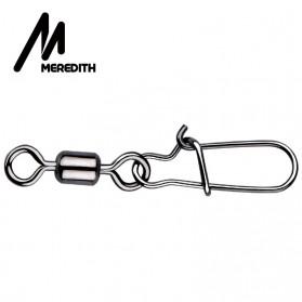 MEREDITH Konektor Kail Pancing Rolling Snap Swivel Fishing Hook Size 10 50PCS - MRH10 - Silver