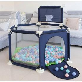 IMBABY Mainan Kolam Mandi Bola Anak Ball Pool Model Hexagonal - B-300 - Blue