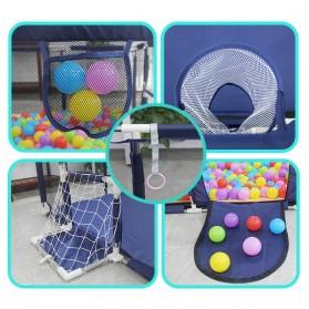 IMBABY Mainan Kolam Mandi Bola Anak Ball Pool Model Hexagonal - B-300 - Blue - 8