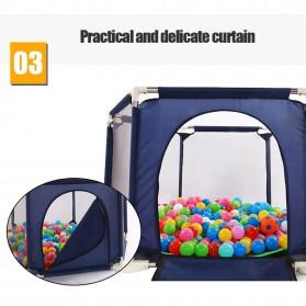 IMBABY Mainan Kolam Mandi Bola Anak Ball Pool Model Hexagonal - B-300 - Blue - 4