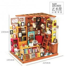 ROLIFE Cute Room Miniatur Rumah Boneka 3D DIY 1:24 - DG102 - Brown - 10