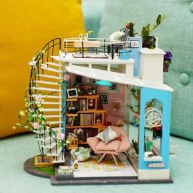 ROLIFE Cute Room Miniatur Rumah Boneka 3D DIY 1:24 - DG12 - White - 3