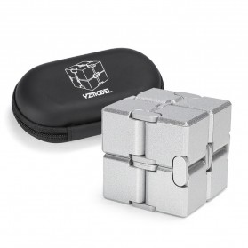 Rubik Cube Magic Puzzle New Style 2 x 2 x 2 With Case - BY-262 - Silver