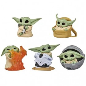 ChildsPlay Action Figure Baby Yoda Star Wars Series 5 PCS - Q5 - Mix Color