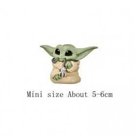 ChildsPlay Action Figure Baby Yoda Star Wars Series 5 PCS - Q5 - Mix Color - 3