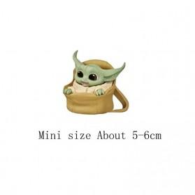 ChildsPlay Action Figure Baby Yoda Star Wars Series 5 PCS - Q5 - Mix Color - 4