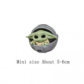ChildsPlay Action Figure Baby Yoda Star Wars Series 5 PCS - Q5 - Mix Color - 6