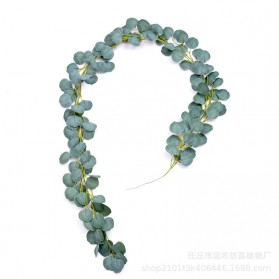 Fleur Tanaman Artificial Plants Decoration Frost Eucalyptus 2 Meter - A011 - Green