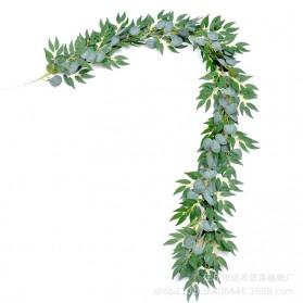 Fleur Tanaman Artificial Plants Decoration Eucalyptus Leaf 2 Meter - A011 - Green