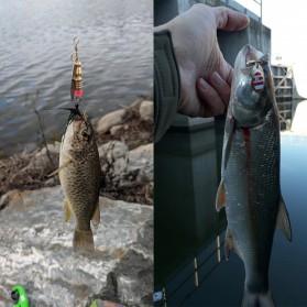 LUSHAZER Umpan Pancing Ikan Fishing Metal Spinner Lure Bait 30 PCS - LU30 - Multi-Color - 3
