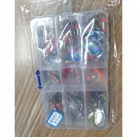 LUSHAZER Umpan Pancing Ikan Fishing Metal Spinner Lure Bait 30 PCS - LU30 - Multi-Color - 5