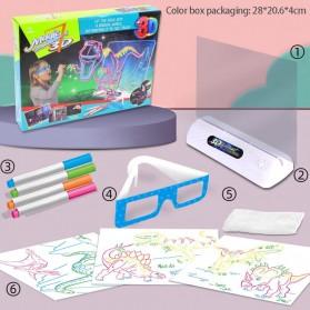 Yigebebe Mainan Menggambar 3D Magic Drawing Board LED Versi Dinosaur - Yig-236 - White