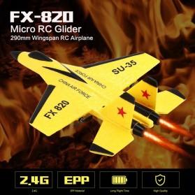 FEI XIONG Remote Control Pesawat Terbang Glider Airplane Foam 2.4G RC - FX-820 - Yellow - 6