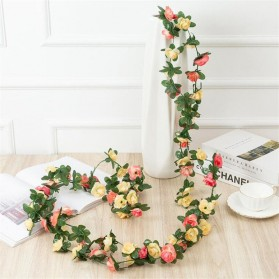 Fleur Tanaman Artificial Plants Decoration Rhododendron 2.4 Meter - A012 - Green