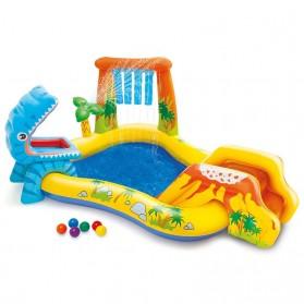 Yabstrip Kolam Renang Angin Wahana Bermain Air Mini Anak Inflatable Swimming Pool  - Y010 - Blue/Yellow