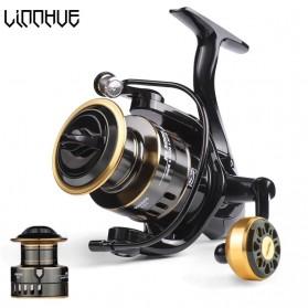 LINNHUE HE2000 Series Reel Pancing Fishing Reel 5.2:1 Gear Ratio 10Kg - Black