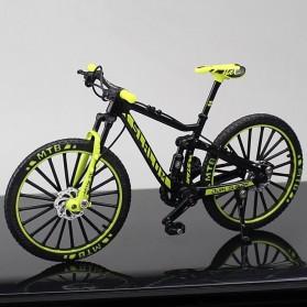 KEKBEIR Miniatur Sepeda MTB Decoration Bicycle Model Diecast Metal 17.5cm - 0818 - Black/Green