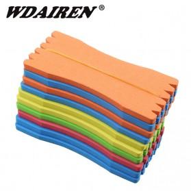 WDAIREN Papan Gulung Senar Pancing EVA Foam Fish Line Winding Board 10PCS - WD10 - Multi-Color