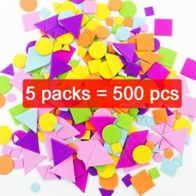 JOKEJOLLY Mainan Stiker Busa Geometry Puzzle Children Education Toys 500 PCS - WJ20 - Multi-Color