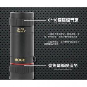 MOGE Teropong Monokular Ultra Clear Bidirectional 8 x 18 - Black - 4